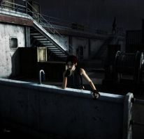Waiting for you, Croft. by morcegan