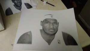 Drawing LeBron James by cdudley25