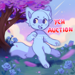 + ych auction open! + by MellowKun