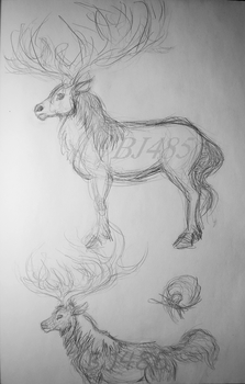 Deer x Horse Creature by BillieJean485