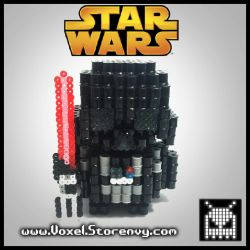Darth Vader (Star Wars) DYI in description by VoxelPerlers