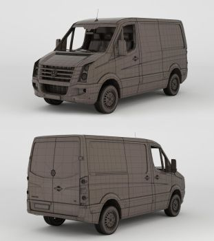 Volkswagen Crafter 2013 Wireframe by 3Dstate