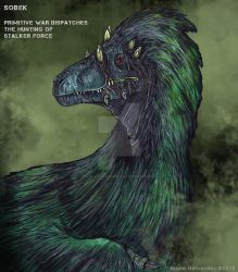 Sobek the Utahraptor by Christoferson