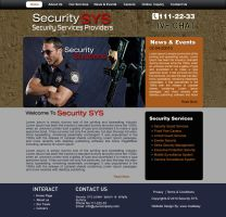 Security SYS Website Design by pakiboy