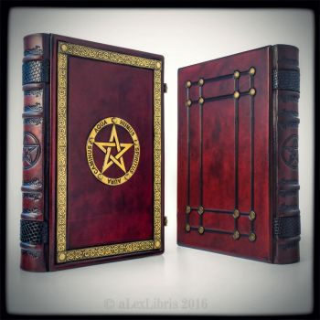 The Great Grimoire in bloody red leather... by alexlibris999