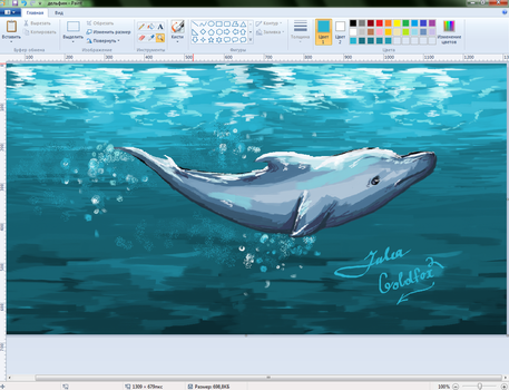Dolphyn in Paint by JuliaGoldfox