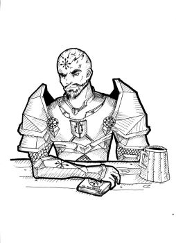 DnD Character concept - Tyroden by PrivateCoppery
