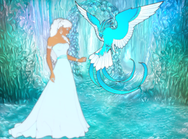 Goddess and the Ice Pheonix by dreammaker123