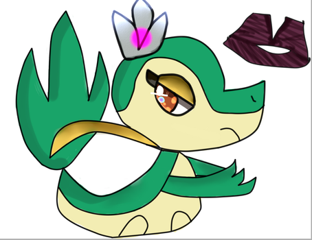 QUEEN - Snivy by JolteonCyndaquil
