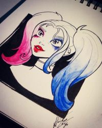 HarleyQuinn MariaLatorre by marialatorreart