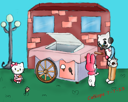 Hello Kitty and Friend get Ice Cream by Thinktink606432