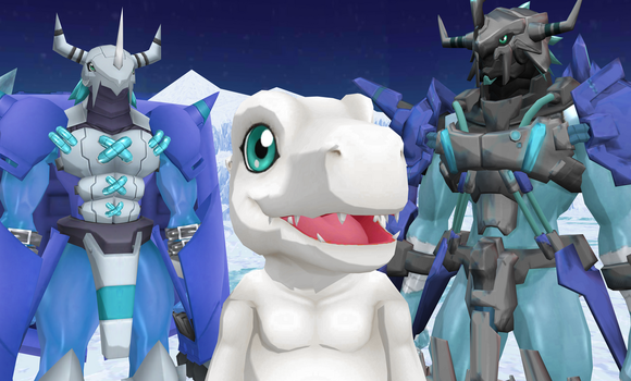 The Mega of SnowAgumon by DarkKomet
