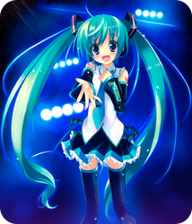 Vocaloid - MIKU ON STAGE by staryume