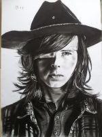 Carl from the walking dead by mchofmann