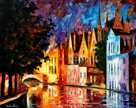 Northern Venice by Leonid Afremov by Leonidafremov