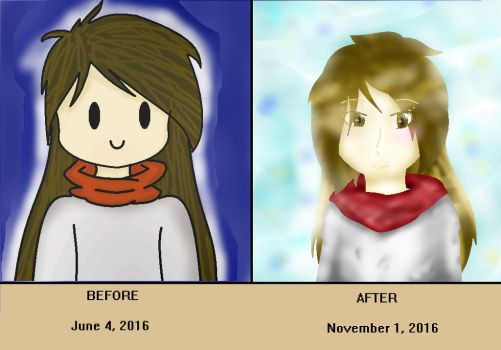Before And After Drawing by Kana-Ancheta