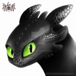 Toothless painting by LuxBlack