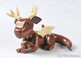 Antlered Deer Dragon by HowManyDragons