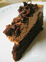 Chocolate Mousse Cake by kgpanelo