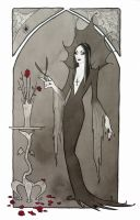 Morticia Addams by miggetymary