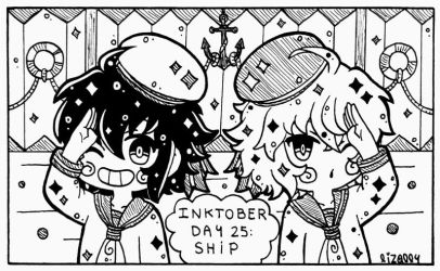 Inktober Dia 25 - Barco by Lizally