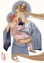Mother and Daughter by wisdom-of-trees
