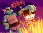 Pizza steve vs mikey by OrangeBlueCream