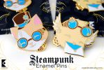 Steampunk Enamel Pins by AyumiNazu