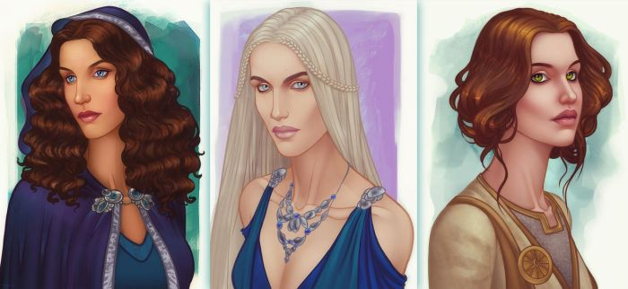 Commissioned sketched girls by ellrano