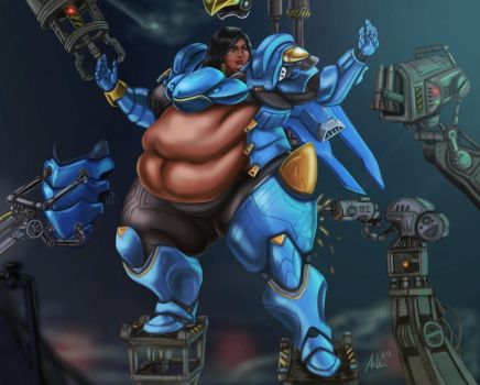 Fat Pharah Suit-up Fail by Ray-Norr