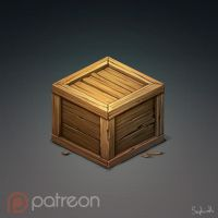 Isometric Wood Box by Sephiroth-Art