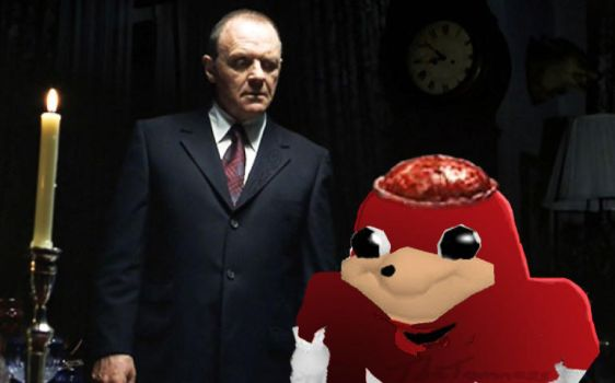 Eatting the Ugandan Knuckles f/ Hannibal Lecter. by TheTomness