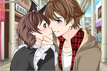 CK and Troy almost kiss by Anime--Bunny