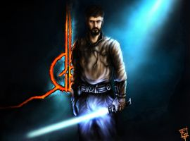 Jedi Knight Kyle Katarn by thegameworld