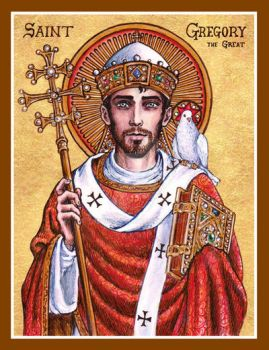 St. Gregory the Great icon by Theophilia