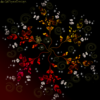 Autumn Flowers by CatSpaceDesign