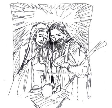 The nativity by jose rodrigues art by joselrodriguesart