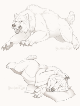 Hackles UP pillows down by Bear-hybrid