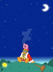 Kirby and Dedede looking at the starry sky by maestrox545