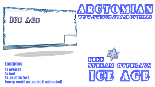 1x free stream overlay: Iceage by Arctomian