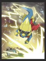 Manectric appealed with Thunder!!
