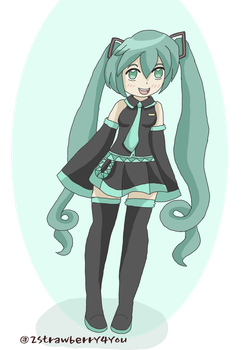 Miku Hatsune by 2strawberry4you