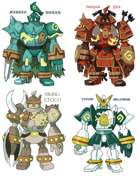 GOLURK variations by Kurigaru