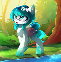 COM_Walking through the forest by MagnaLuna