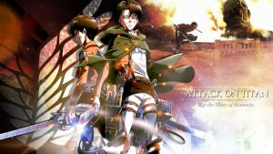 Attack on Titan Wallpaper III (1366x768) by echosong001