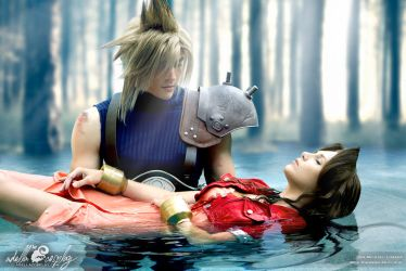 Aerith Cosplay Death Scene by Adella