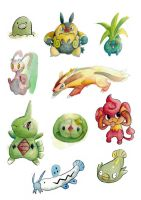 Misc Pokemon Watercolor Practise 06