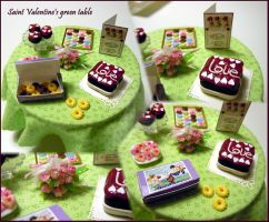 Saint Valentine's green table by miniacquoline