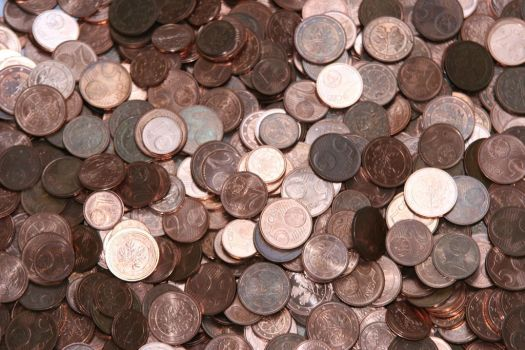 Pile of Copper Coins by thesmallwonder