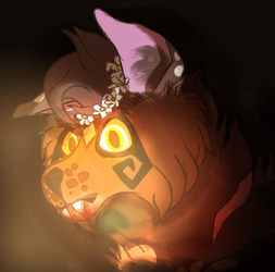 Shaded halloween themed commission for Crunchy!! by Ledawolf